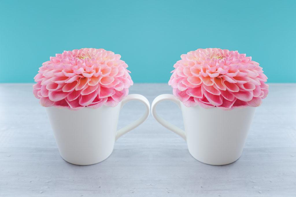 お花の入ったマグカップ