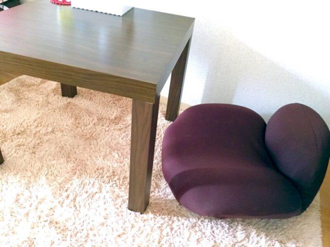 丸い座椅子