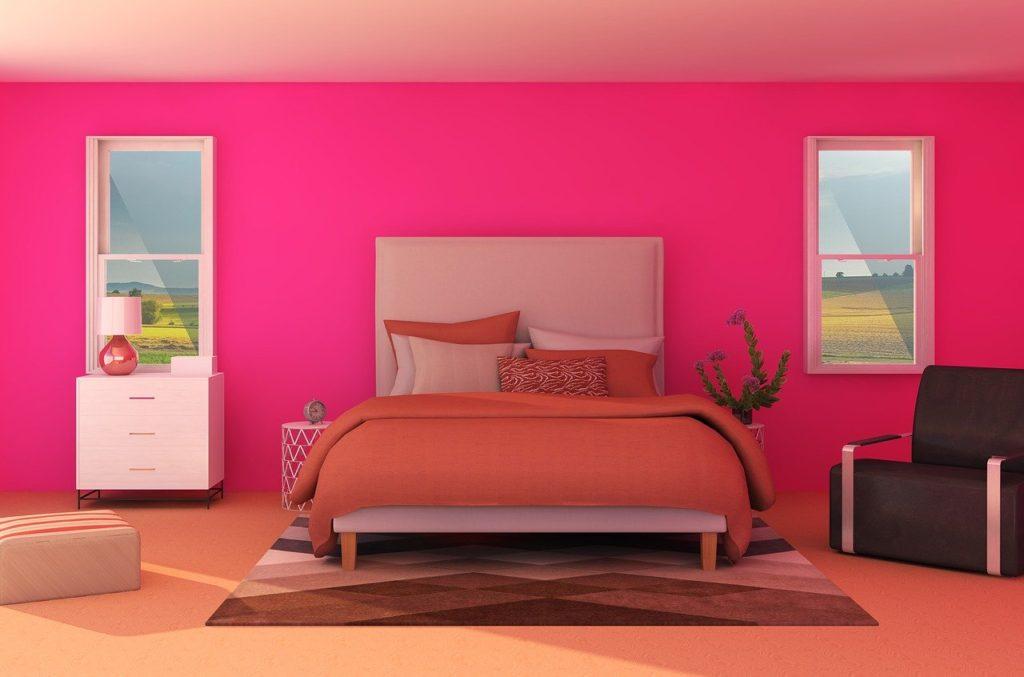 可愛いピンクのインテリア