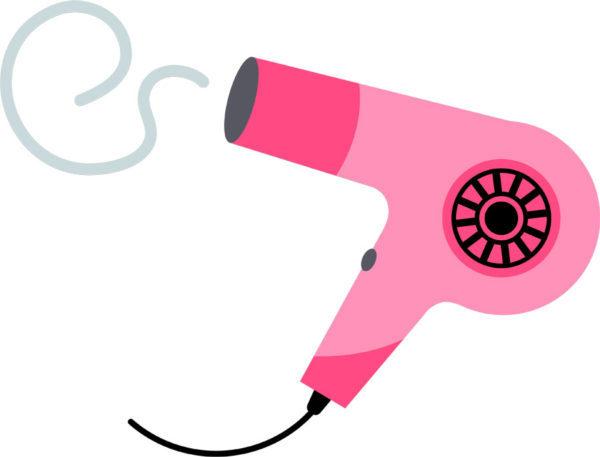 ピンクのドライヤー