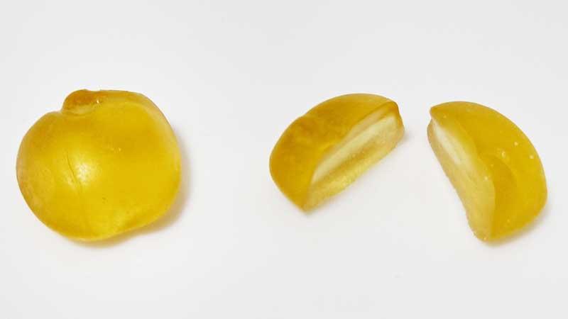 明治 果汁グミ フルーツミックス断面図