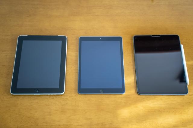 3台のタブレット