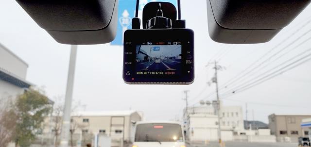 録画中ドライブレコーダー